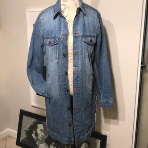 Rachel Roy Long Denim Jacket